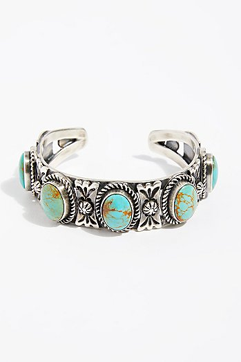 Turquoise Five Row Cuff
