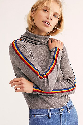 Solid Marathon Turtleneck Top