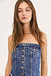 Thumbnail View 1: Levi's Lace-Up Denim Corset Top