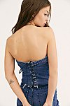 Thumbnail View 3: Levi's Lace-Up Denim Corset Top