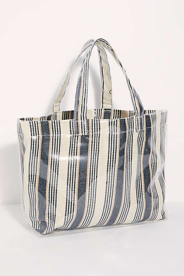 Slide View 2: Shine On Plastic Coated Striped Tote