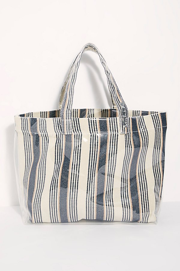 Slide View 4: Shine On Plastic Coated Striped Tote