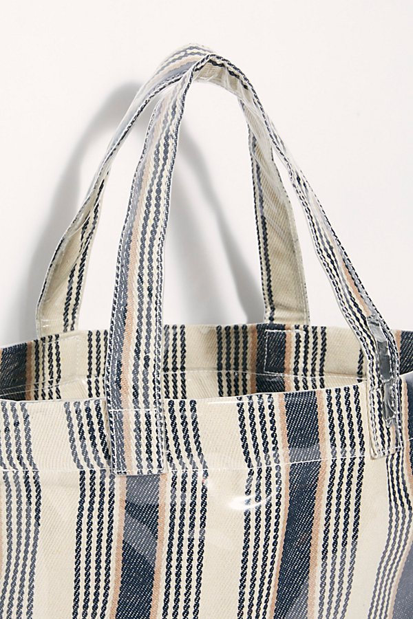Slide View 5: Shine On Plastic Coated Striped Tote
