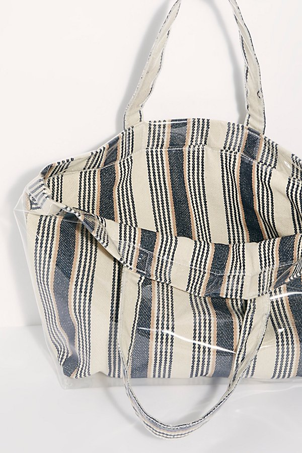 Slide View 6: Shine On Plastic Coated Striped Tote