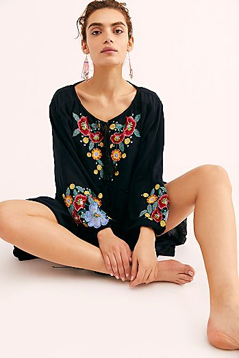 Spell On Your Embroidered Mini Dress