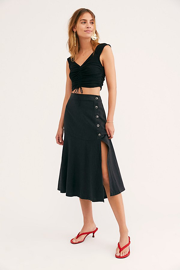 Slide View 4: Poppy Flounced Midi Skirt
