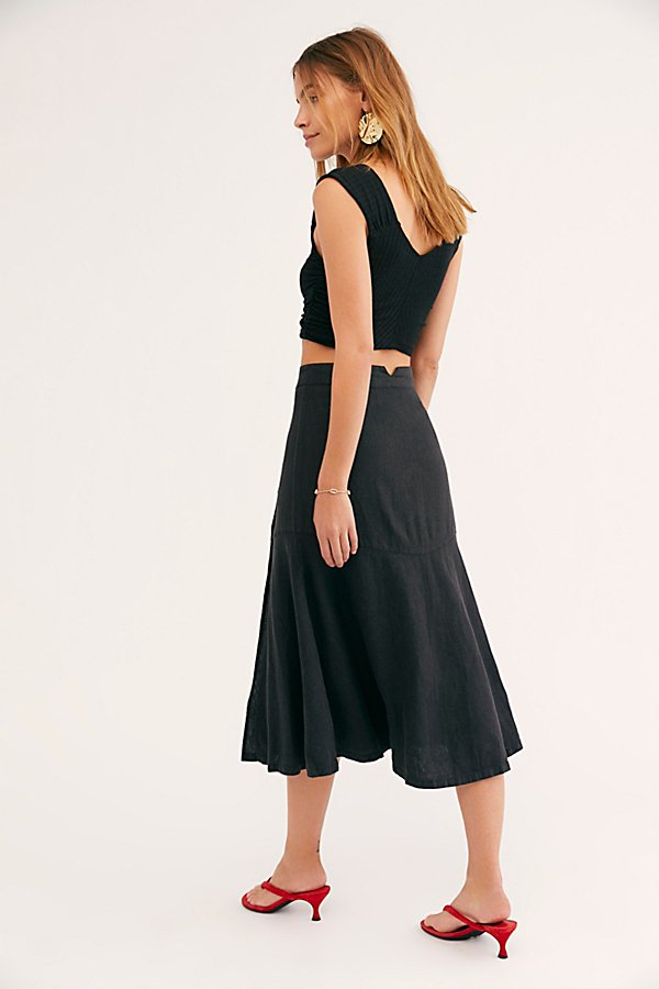 Slide View 2: Poppy Flounced Midi Skirt