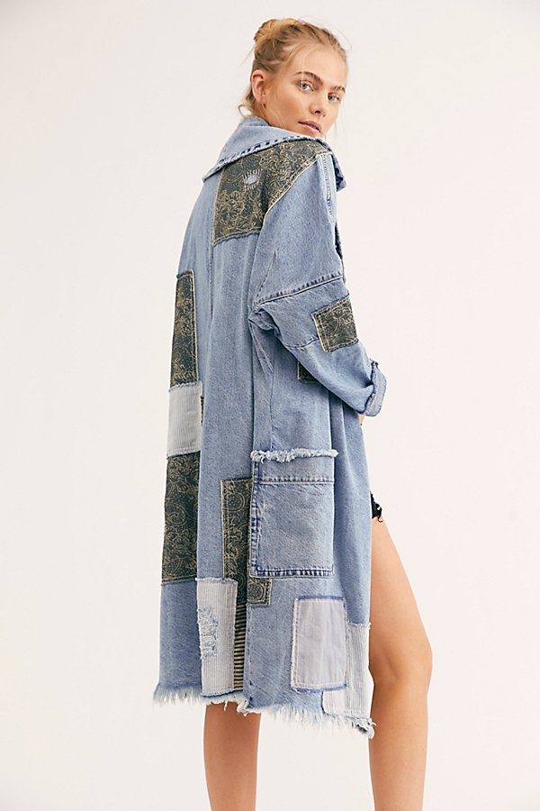 Slide View 2: Patchwork Denim Duster