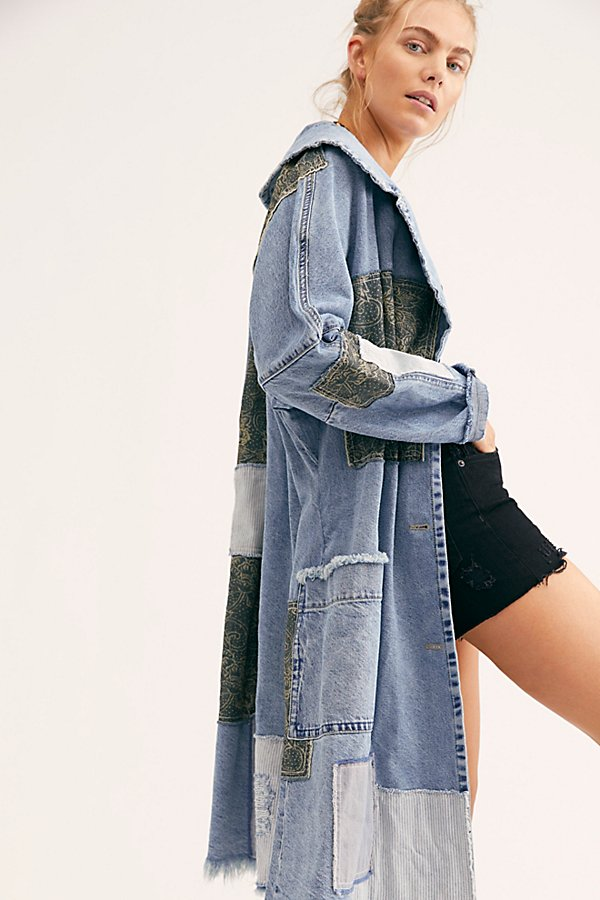 Slide View 4: Patchwork Denim Duster