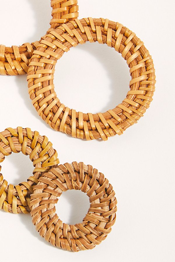 Slide View 3: Straw Hoop Earring Set