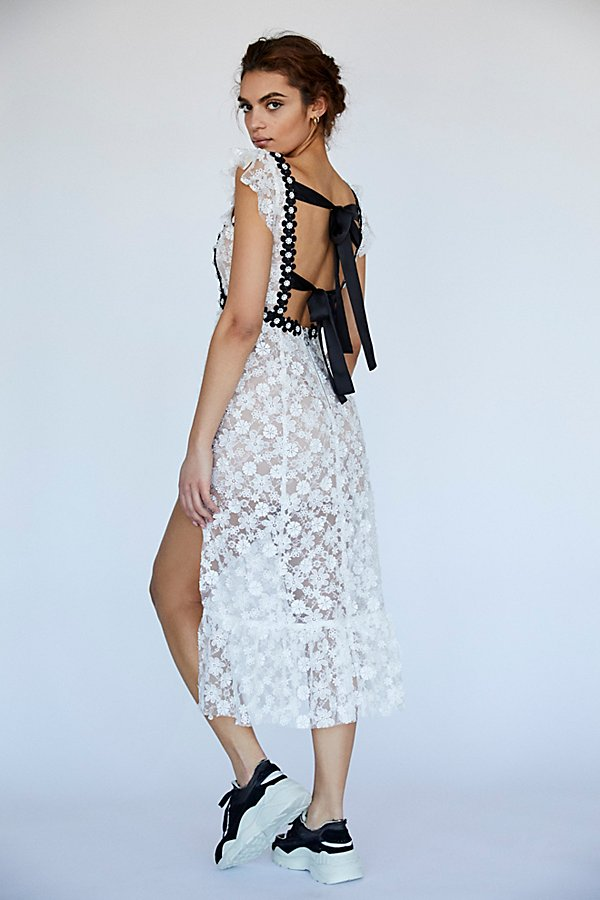 Slide View 1: Isabel Embroidered Midi Dress