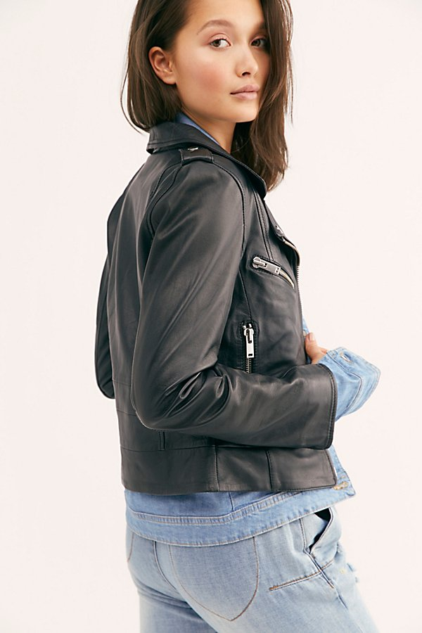 Slide View 2: Demi Leather Jacket