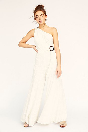 Ortiz One Shoulder Flared Jumpsuit