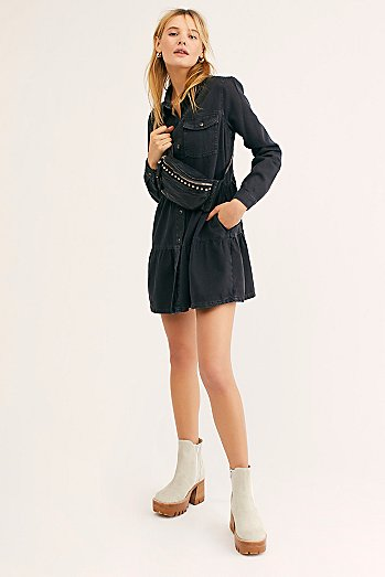 Nicole Denim Shirt Dress