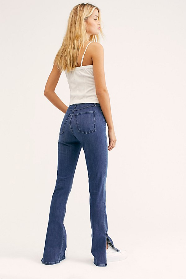 Slide View 3: 3x1 High-Rise Split Seam Bell Jeans