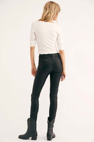 Vegan Spoiler Alert Skinny Trousers by Blank Nyc