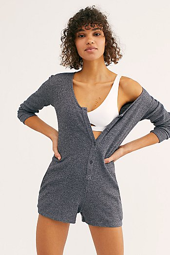 Thermal Henley Romper