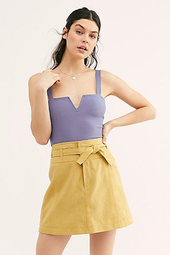 Livin For Love Suede Skirt