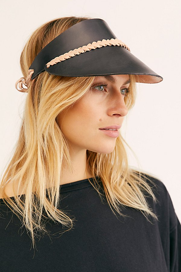 Slide View 1: Curi Braided Leather Visor
