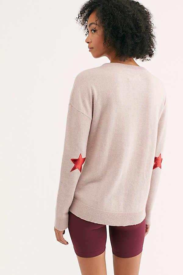 Slide View 3: Cici Patch Cashmere Sweater