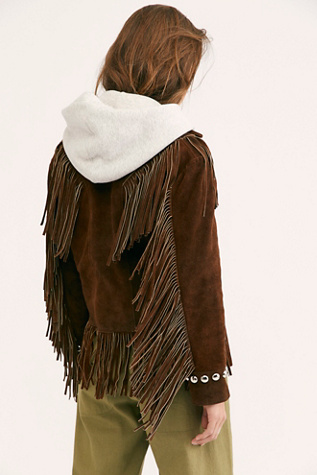 Fringe Studded Jacket by Understated Leather