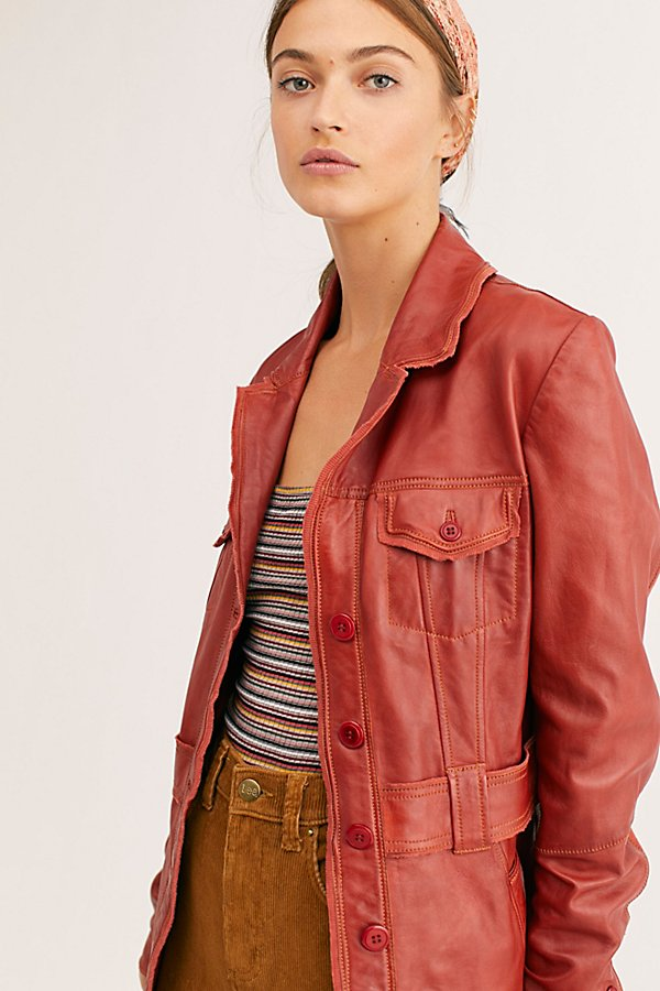 Slide View 3: Carmen Leather Jacket