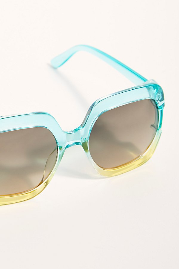 Slide View 3: Gradient Real Deal Oversized Sunglasses