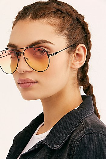 Starry Eyed Aviator Sunglasses