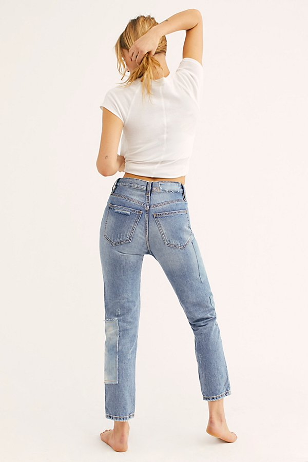Slide View 2: Piece By Piece Slim Straight-Leg Jeans