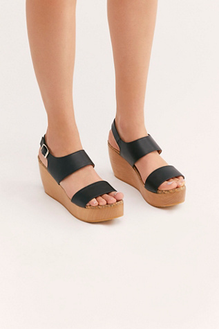 Sydney Brown Vegan Flatform Sandal by Free People