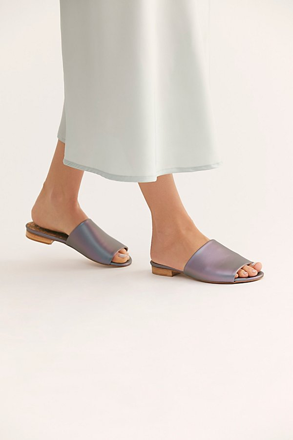 Slide View 1: Sydney Brown Vegan Slide Sandal