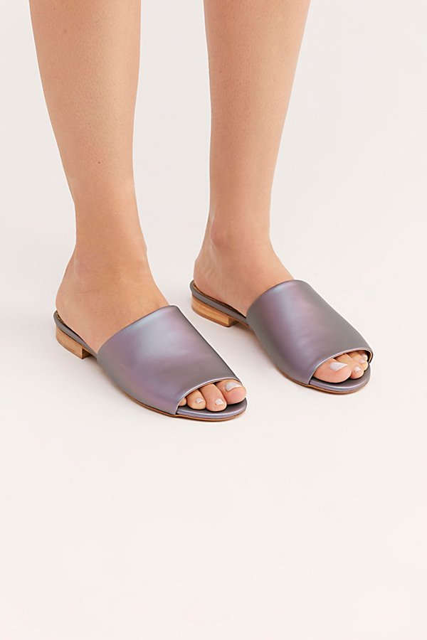 Slide View 2: Sydney Brown Vegan Slide Sandal