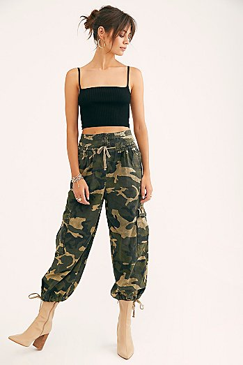 Fly Away Camo Parachute Pants