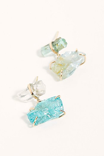14k Danburite Stone Earrings