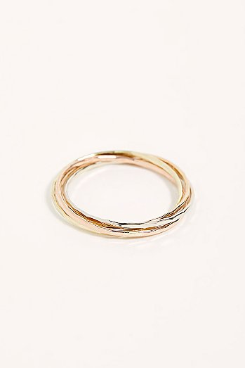 14k Interlocking Ring Set