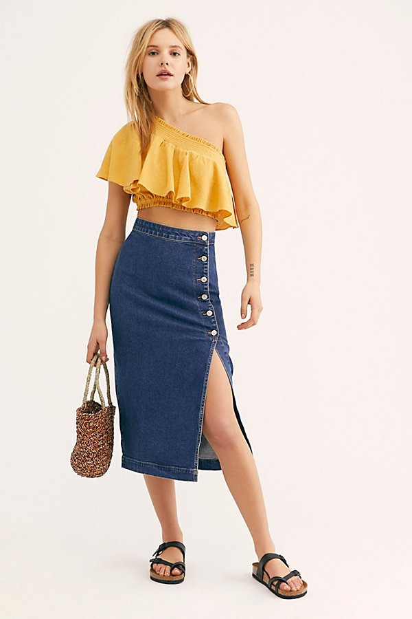 Slide View 1: Jasmine Buttoned Midi Skirt