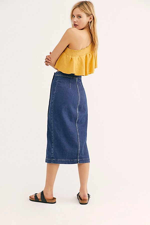 Slide View 2: Jasmine Buttoned Midi Skirt