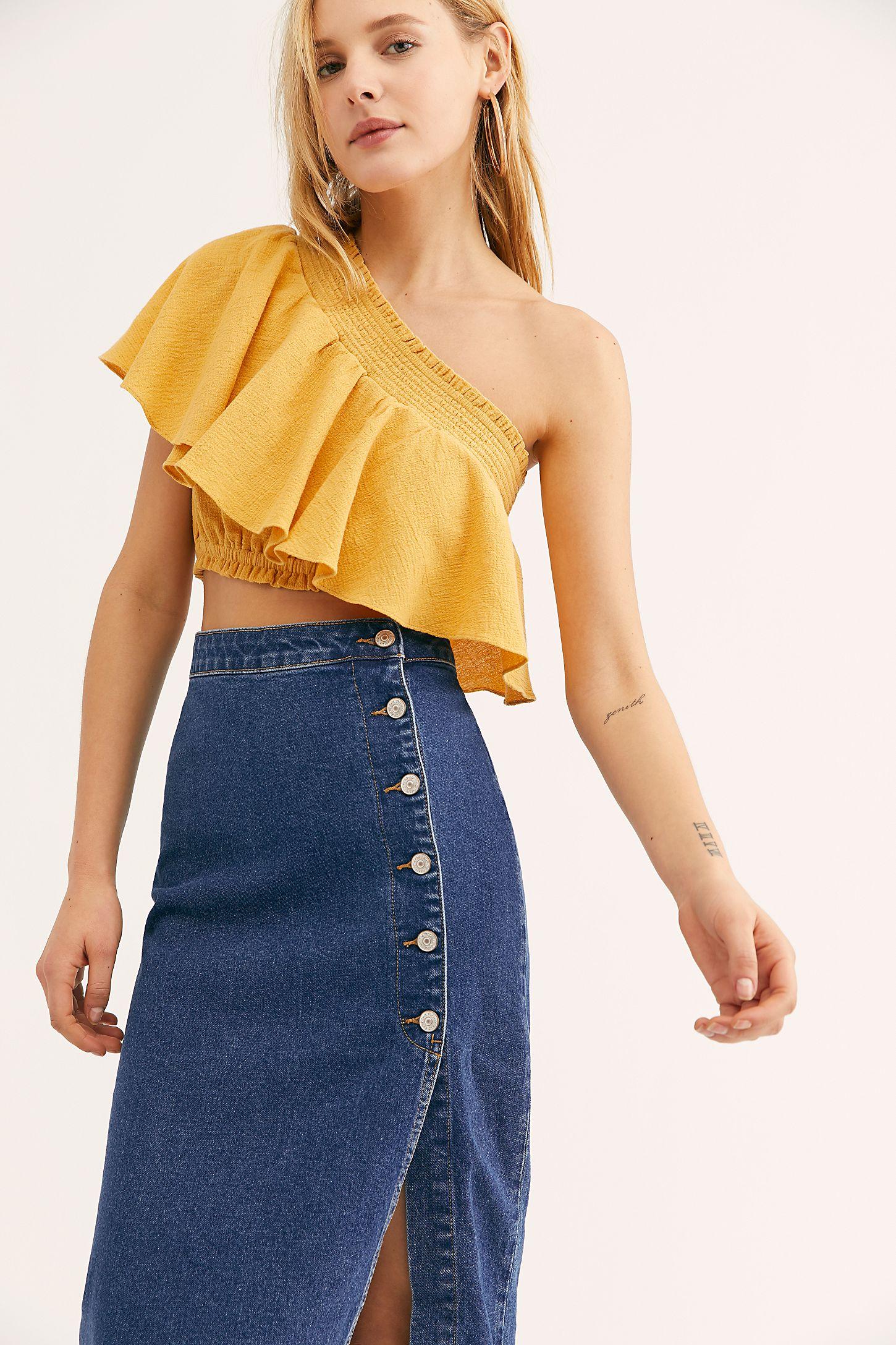 aaae21ed0 Slide View 3: Jasmine Buttoned Midi Skirt