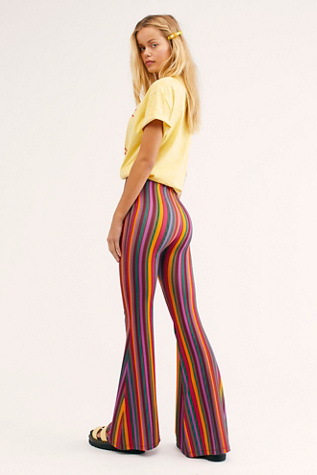 Harper Printed Pull On Trousers by Free People