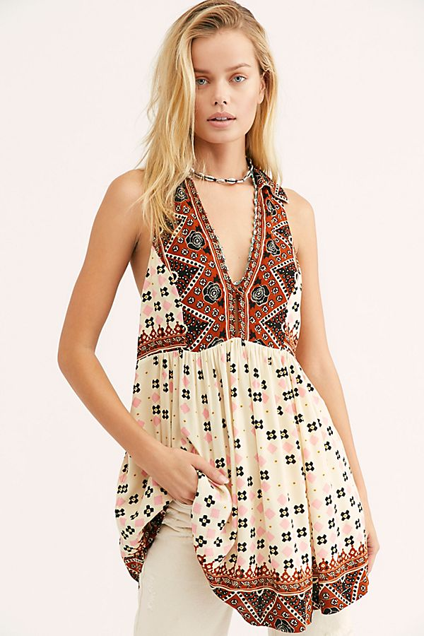 Charlotte Sleeveless Printed Top by Free People