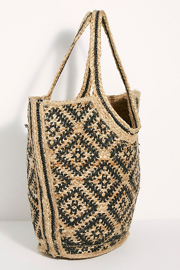 Slide View 5: Eva Printed Jute Tote