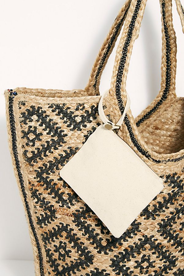 Slide View 6: Eva Printed Jute Tote