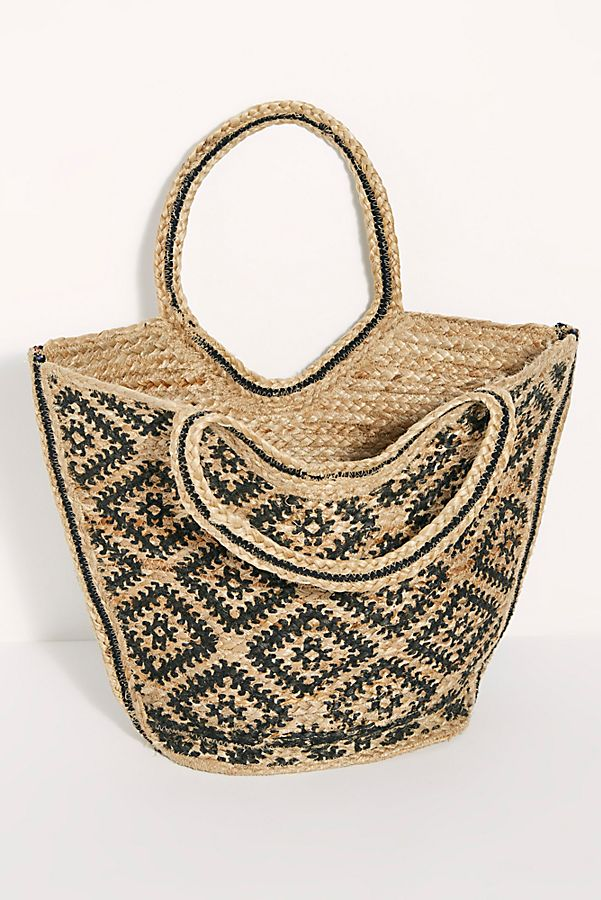 Slide View 7: Eva Printed Jute Tote