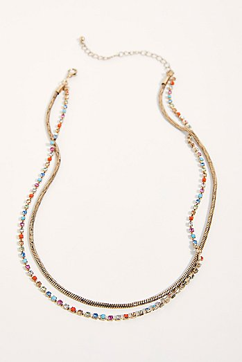 Double Rhinestone Necklace