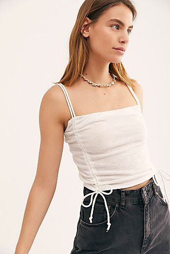 ef4f3a94aee312 White - Bramis   Cropped Cami Bras For Women