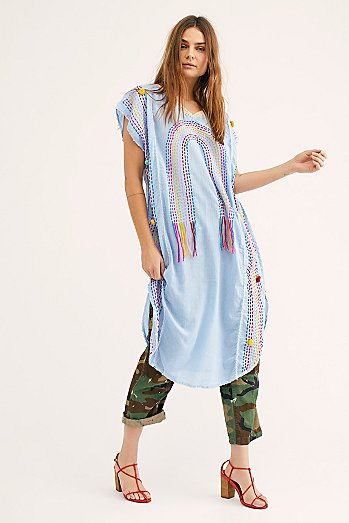 Chasing Rainbows Embroidered Kaftan