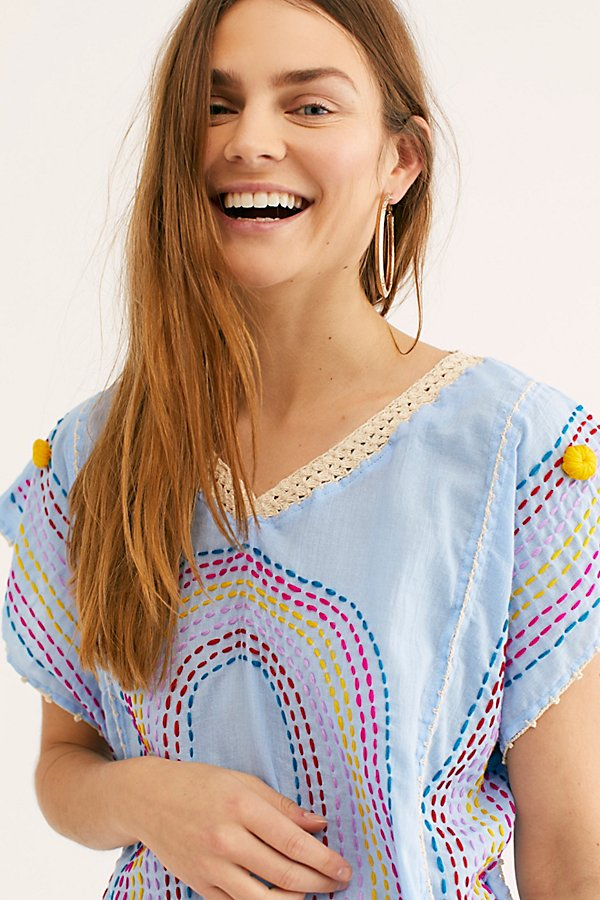 Slide View 4: Chasing Rainbows Embroidered Kaftan