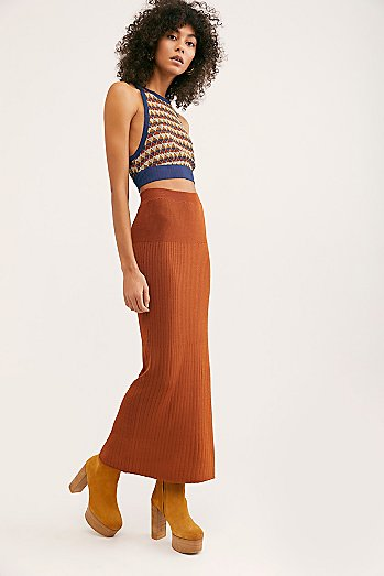 All The Ribs Maxi Skirt