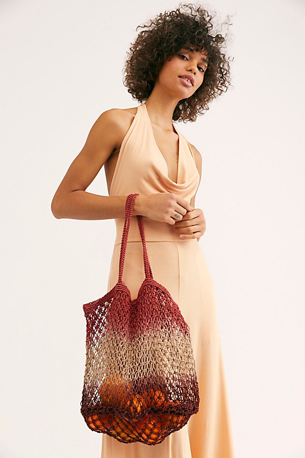 Slide View 1: Wild Flower Ombre Jute Tote