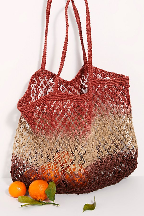 Slide View 2: Wild Flower Ombre Jute Tote
